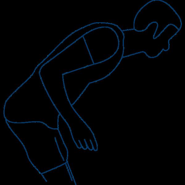 Spasmes des muscles antérieurs du tronc